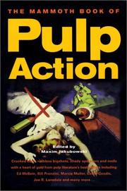 Cover art for THE MAMMOTH BOOK OF PULP ACTION