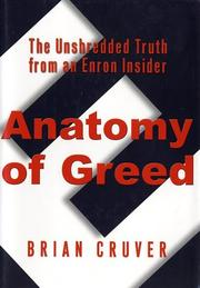 Cover art for ANATOMY OF GREED