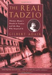 THE REAL TADZIO by Gilbert Adair