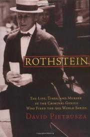 ROTHSTEIN by David Pietrusza