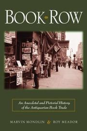 BOOK ROW by Marvin Mondlin
