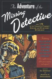 Cover art for THE ADVENTURE OF THE MISSING DETECTIVE