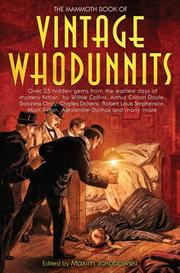 Cover art for THE MAMMOTH BOOK OF VINTAGE WHODUNNITS