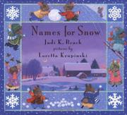 Book Cover for NAMES FOR SNOW