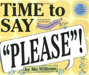 Book Cover for TIME TO SAY PLEASE!