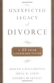 Cover art for THE UNEXPECTED LEGACY OF DIVORCE