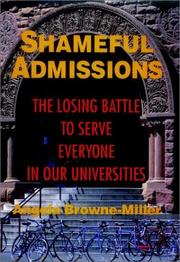 SHAMEFUL ADMISSIONS by Angela Browne-Miller