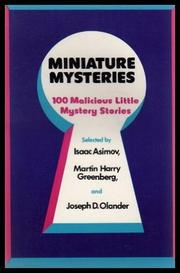 MINIATURE MYSTERIES by Isaac Asimov