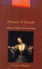 A HISTORY OF SUICIDE by Georges Minois