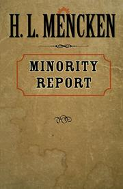 MINORITY REPORT by H.L. Mencken