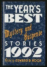 THE YEAR'S BEST MYSTERY AND SUSPENSE STORIES 1992 by Edward D. Hoch