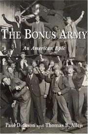 Cover art for THE BONUS ARMY