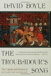 THE TROUBADOUR'S SONG by David Boyle