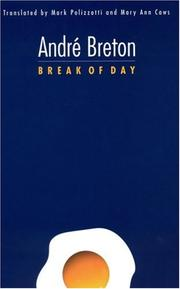 Book Cover for BREAK OF DAY