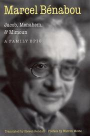 JACOB, MENAHEM, MIMOUN by Marcel Bénabou