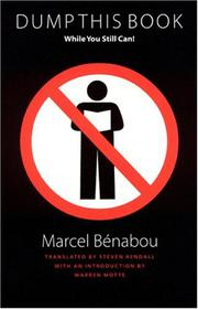DUMP THIS BOOK WHILE YOU STILL CAN! by Marcel Bénabou
