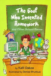 Cover art for THE GOOF WHO INVENTED HOMEWORK