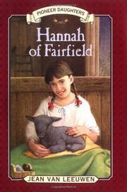 HANNAH OF FAIRFIELD by Jean Van Leeuwen
