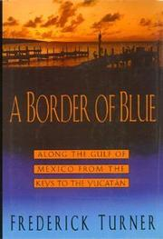A BORDER OF BLUE by Frederick  Turner