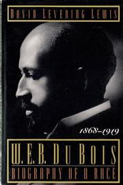 Cover art for W.E.B. DU BOIS