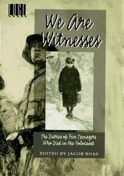 WE ARE WITNESSES by Jacob Boas