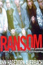 RANSOM by Ann Hagedorn Auerbach