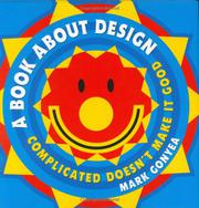 A BOOK ABOUT DESIGN by Mark Gonyea