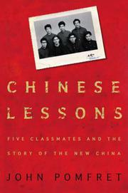 CHINESE LESSONS by John Pomfret