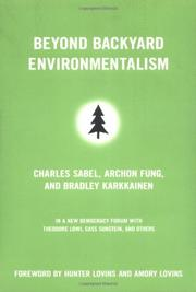 BEYOND BACKYARD ENVIRONMENTALISM by Charles Sabel