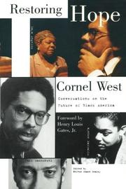 RESTORING HOPE: Conversations on the Future of Black America by Cornel West