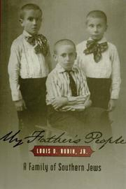 MY FATHER'S PEOPLE by Louis D. Rubin