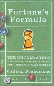 Book Cover for FORTUNE'S FORMULA