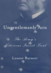 UNGENTLEMANLY ACTS by Louise Barnett