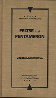 PELTSE AND PENTAMERON by Volodymyr Dibrova