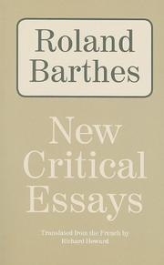 NEW CRITICAL ESSAYS by Richard  Howard