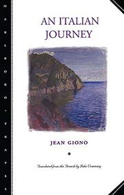 AN ITALIAN JOURNEY by Jean Giono
