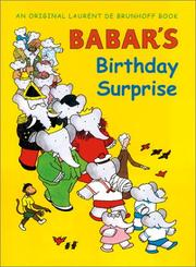 BABAR'S BIRTHDAY SURPRISE by Laurent de Brunhoff