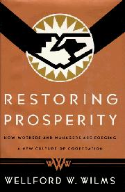 RESTORING PROSPERITY by Wellford W. Wilms