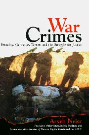 WAR CRIMES by Aryeh Neier