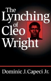 Cover art for THE LYNCHING OF CLEO WRIGHT
