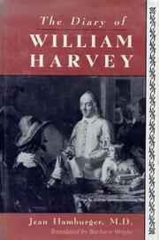 THE DIARY OF WILLIAM HARVEY by Jean Hamburger