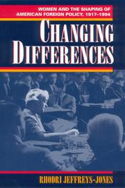 CHANGING DIFFERENCES by Rhodri Jeffreys-Jones