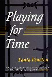 PLAYING FOR TIME by Fania & Mareelle Routier FÉnelon