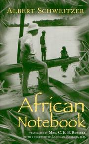 AFRICAN NOTEBOOK by Albert Schweitzer