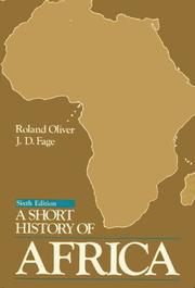 A SHORT HISTORY OF AFRICA, 1500-1900 by Constance Jones