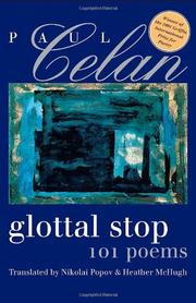 GLOTTAL STOP by Paul Celan