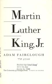 MARTIN LUTHER KING, JR. by Adam Fairclough