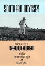 SOUTHERN ODYSSEY by Sherwood Anderson