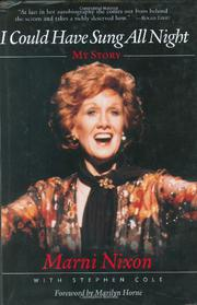 I COULD HAVE SUNG ALL NIGHT by Marni Nixon