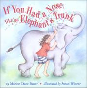 Book Cover for IF YOU HAD A NOSE LIKE AN ELEPHANT'S TRUNK